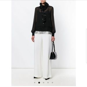 Lavin crepe wide leg trousers